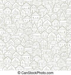 cityscape, háttér, seamless, motívum, helyett, -e, tervezés