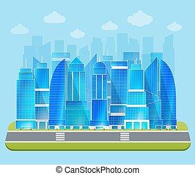 cityscape, industriel, bureau