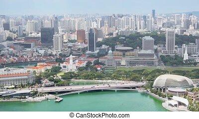 cityscape, inspirer, crainte, gratte-ciel, singapour