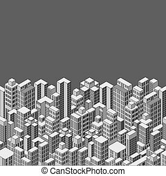 cityscape, isométrique, fond