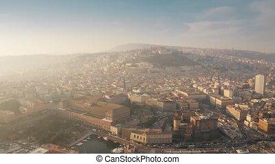 cityscape, italie, naples, vue aérienne