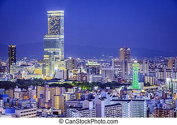 cityscape, japán, osaka