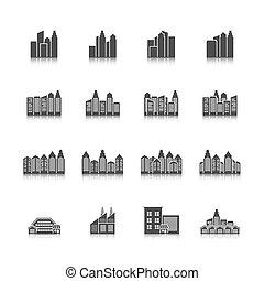cityscape, jogo, ícones
