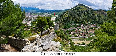 cityscape, közül, berat, -, albánia