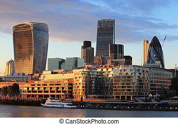 cityscape, közül, london, éjjel