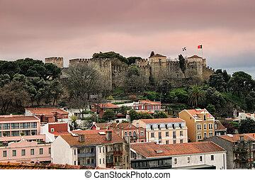 Cityscape, Lisbonne, bâtiments,  portugal