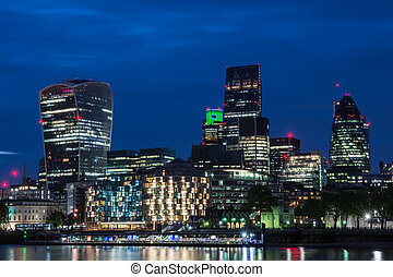 cityscape, londres, noturna