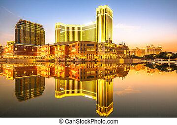 Cityscape Macao sunset