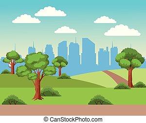 cityscape, miejski, krajobraz
