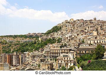 cityscape, modica, sicilië