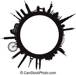 cityscape, mundo, negro, paisaje