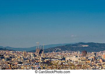 cityscape, négliger, barcelone