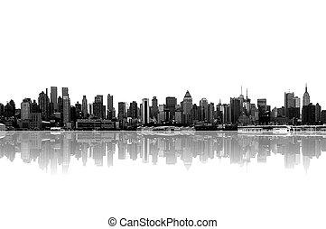 new york city skyline - cityscape - new york city skyline