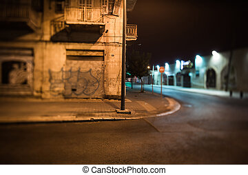 night streets of the old town