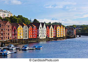 cityscape, noruega, trondheim