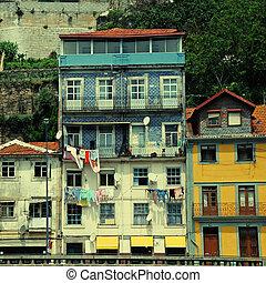cityscape, od, porto, portugalia