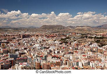 Cityscape of Alicante, Catalonia Spain