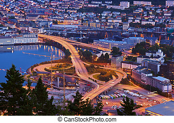 Cityscape of Bergen - Norway - Cityscape of Bergen Norway -...