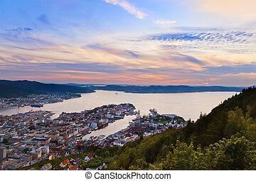 Cityscape of Bergen - Norway