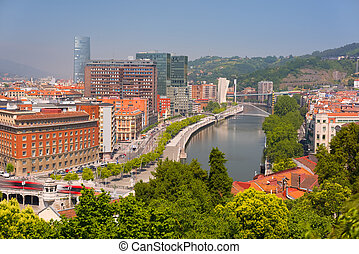 Bilbao in a summer day