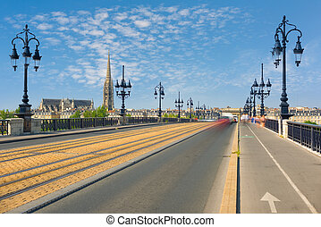 Cityscape of Bordeaux in a summer day