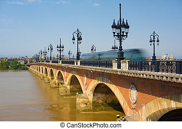 Bordeaux in a sunny summer day