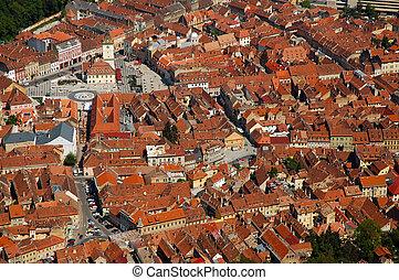 Cityscape of Brasov city, Transylvania, Romania