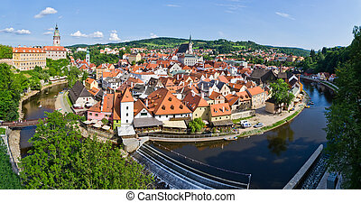 Cityscape of Cesky Krumlov ( UNESCO heritage list) -...