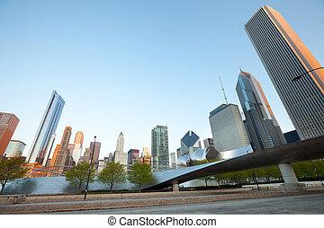 Cityscape of Chicago - Chicago, Illinois, United States - ...
