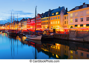 Copenhagen at a summer night