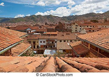 Cityscape of cusco city