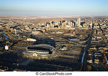 Cityscape of Denver, Colorado, USA.
