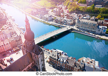Cityscape of Dinant with Pont Charles de Gaulle - Cityscape...