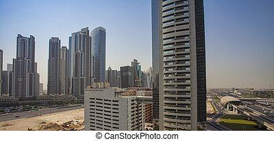 cityscape of Dubai city in UAE