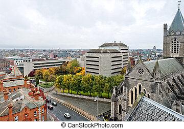 Cityscape of Dublin. Ireland