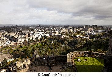 Cityscape of Edinburgh in Scotland