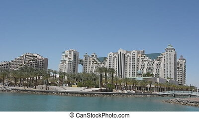 Cityscape of Eilat, Israel. Eilat, the resort city on the southernmost tip of Israel, offers great beaches and warm weather all year round.