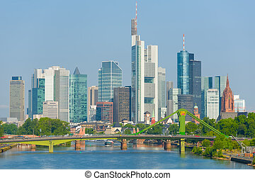 Frankfurt at a summer day