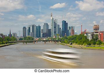 Frankfurt in a summer day
