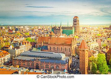 Cityscape of Gdansk, Poland