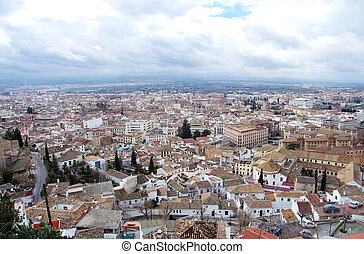 Cityscape of Granada, Andalusia, Spain.