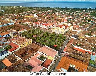 Cityscape of Granada town