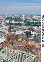 Hamburg in a sunny summer day