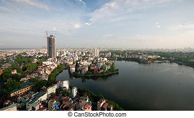 Cityscape of Hanoi city in Viet nam , Vietnam