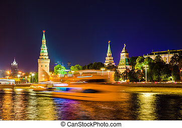 Kremlin Embankment - cityscape of Kremlin Embankment at...