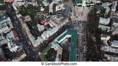 Cityscape of Kyiv in Ukraine - Central part of Kyiv with St....