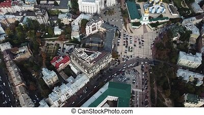 Cityscape of Kyiv in Ukraine - Kyiv central square with St....
