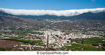 Cityscape of Los LLanos at La Palma, Canary Islands. At the...