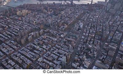 cityscape of lower manhattan neighborhood