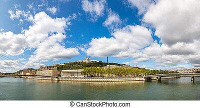 Cityscape of Lyon, France